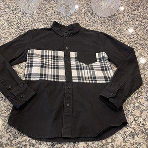 Men's Black Scale Button Up Shirt